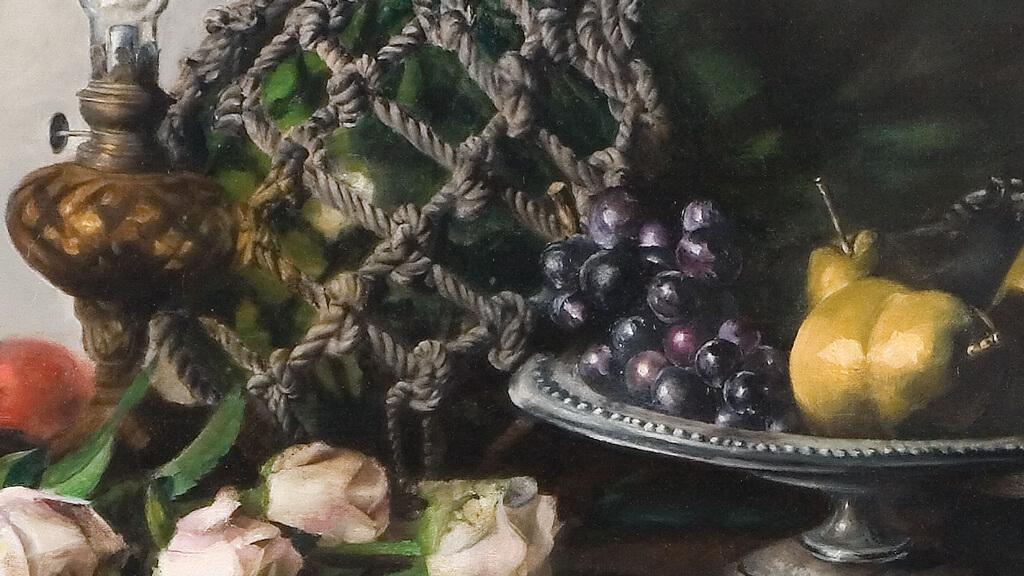 Still-life with Lamp: Detail